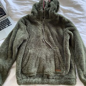 Billabong pullover fuzzy hoodie